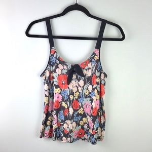 Anthro Kimchi Blue Floral Tank Top